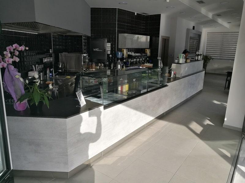 grey cafe vitrines